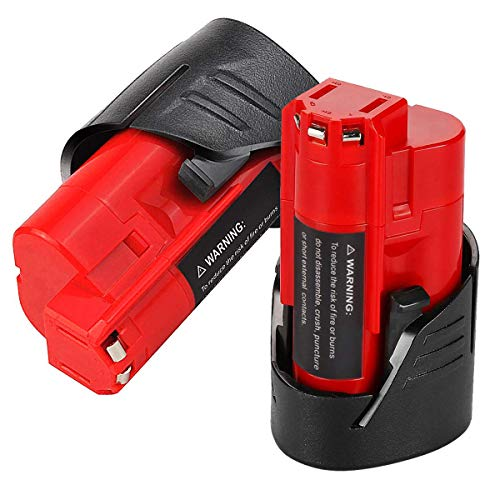 VANON 2.5Ah for Milwaukee M12 Battery, 12V Lithium-ion Cordless Tool Battery for Milwaukee 48-11-2401 48-11-2402 48-59-1812 48-11-2411 48-11-2420 48-59-1812 2510-20 48-59-2401 (2 Pack)