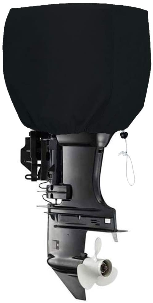 FLYMEI Outboard Motor Cover Heavy Duty Boat Engine Hood Covers Waterproof Boat Motor Cover Outboard Engine Cover