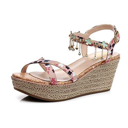 scarpe di spessore tacco le scarpe rosa Estate Sandali Caro In alta Taiwan impermeabili chiaro col Diamond scarpe femminile scarpe bella qwzwg8R0x