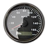 GPS MPH Speedometer Gauge Odometer Black Background For ATV UTV Motorcycle Marine Boat Buggy Golf Go Cart