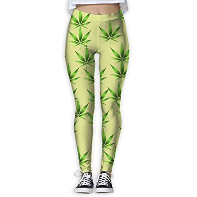 Cannabis Weeds Leaves Printed Yoga Sport Pants Best Choice For Women