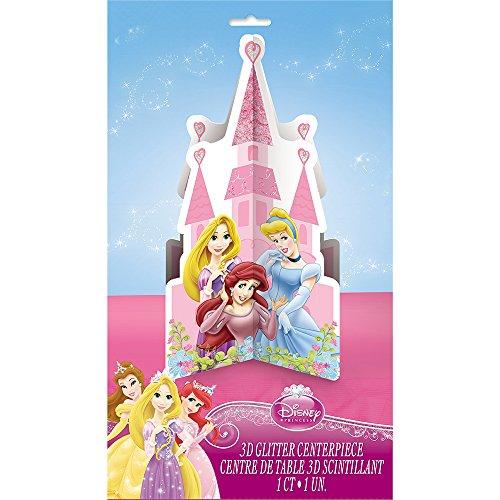 Unique Glitter Disney Princess Centerpiece (Princess Centerpiece Ideas)