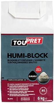 Toupret lshumib06 humi-block – polvo 6 kg, Color blanco: Amazon.es: Bricolaje y herramientas