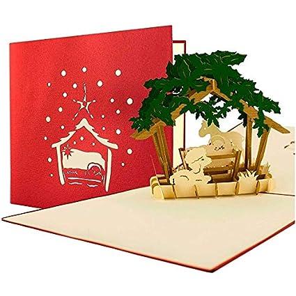 Tarjeta de Navidad (con sobres, Belén, cupones, tarjeta ...