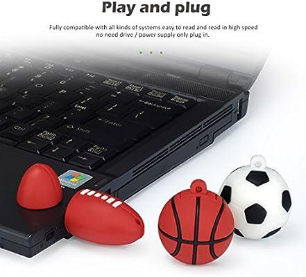 LEIZHAN Memoria USB 16G USB Flash Drive 2.0 Silicona Forma de Bola ...