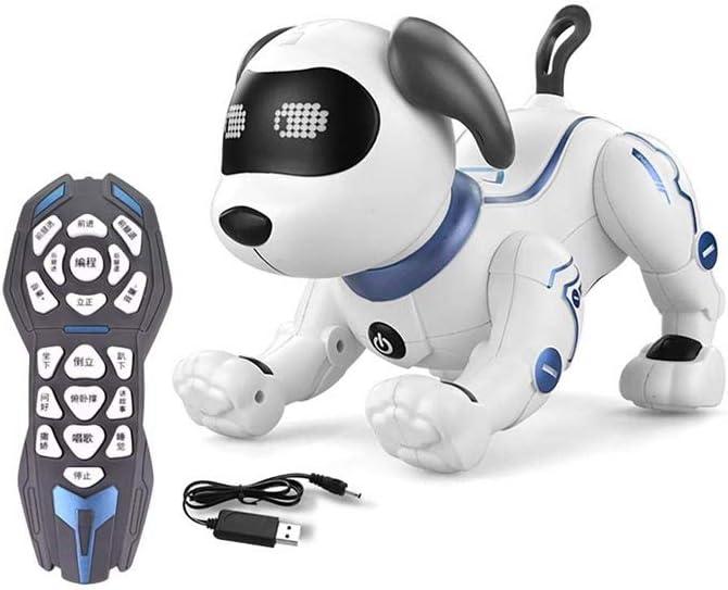 SYXX Electrónica animal doméstico del perro del perrito interactivo, programable Bailar Caminar Robot del perrito de juguete Niño Niña regalo de cumpleaños, juguete de los niños a distancia de control