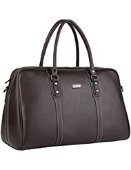 Banuce Mens Travel Tote Bag Genuine Leather Duffel 1-3 days Weekend Overnight Shoulder Messenger Bag