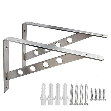 300mm X 250mm 4 Pairs Of Shelf Support Bracket Brace Grey Building & Hardware Home & Garden