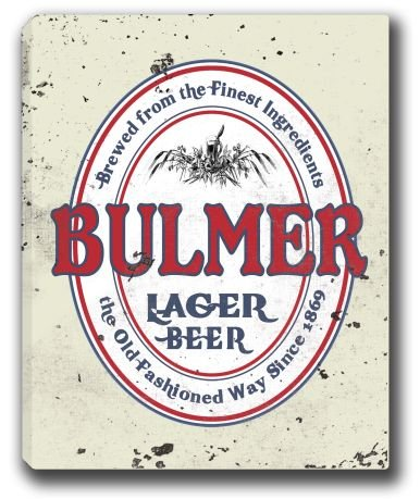 bulmer-lager-beer-stretched-canvas-sign-16-x-20