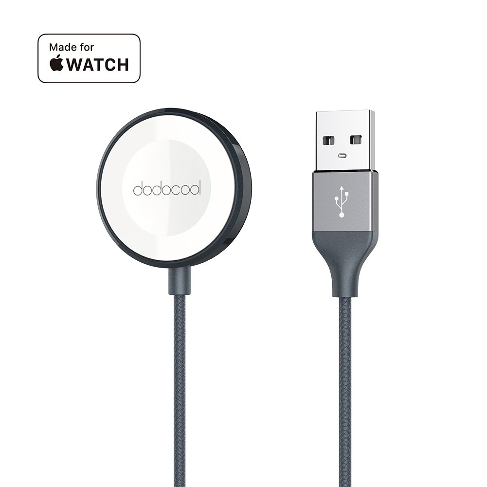 dodocool Apple Watch Charger Cable [MFi Certified] Magnetic iwatch Charger Cable Nylon Braided Scratch Resistant 38mm/42mm Apple Watch Series 3/Apple Watch Series 2/Apple Watch Series 1 (3.3ft)