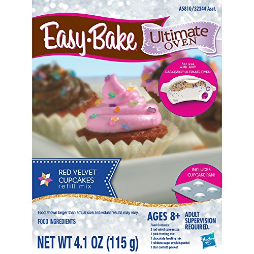Easy-Bake Ultimate Oven Red Velvet Cupcakes Refill Pack (Ez Bake Mixes)