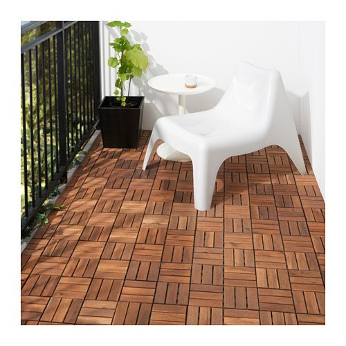 IKEA Outdoor Deck and Patio Interlocking Flooring Tiles (Brown-Stained) 902.342.26