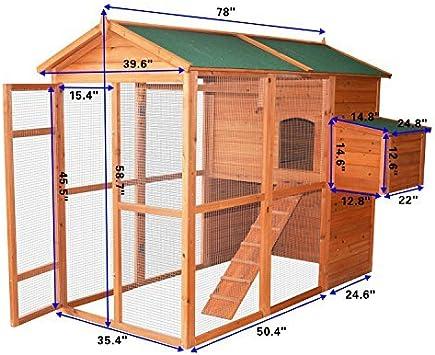 PawHut Deluxe Backyard Gallinero grande/gallina con exterior Ejecutar: Amazon.es: Jardín