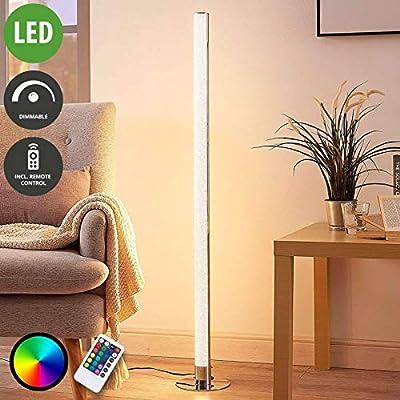 LED Lámpara de pie Hadis (Moderno) en Plateado hecho de Plástico ...