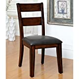 Affordable Furniture of America Katrine Dark Cherry Dining Chair (Set of 2) in Brown