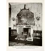 1926 Print Chippendale Gilt Mirror Mantel Interior Design Decoration Anne Morgan - Original Halftone Print