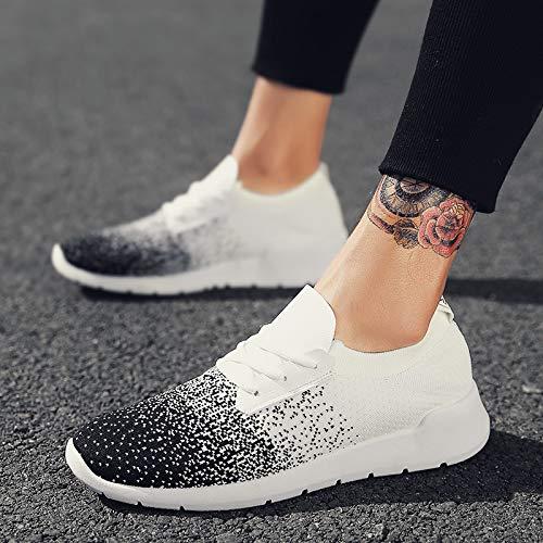 Chaussures Rétro Respirant Net Light Flying Sport Weaving Running Shoes Nanxieho Étudiant x4q70Cw78