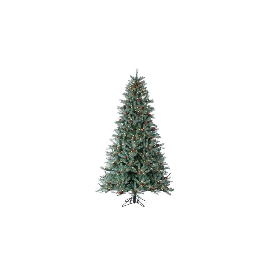 7.5 Pre Lit New Blue Green Diamond Fir Artificial Christmas Tree   Clear Lights