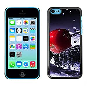 LECELL -- Funda protectora / Cubierta / Piel For Apple iPhone 5C -- Fruit Macro Water Cherry --