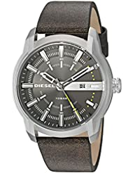 Diesel Mens DZ1782 Armbar Stainless Steel Brown Leather Watch