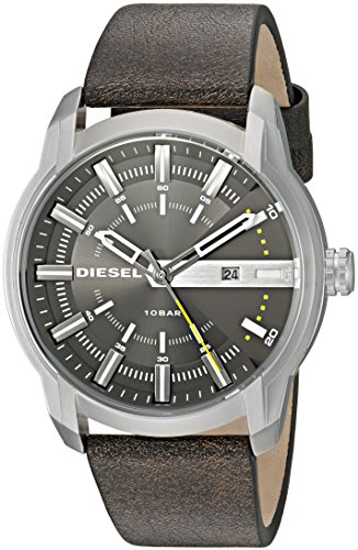 Diesel Men's DZ1782 Armbar Stainless Steel Brown Leather Watch