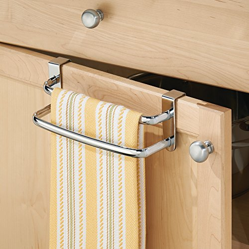 kitchen cabinet towel rack interdesign axis the cabinet kitchen dish towel bar 19703
