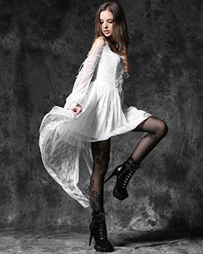 Viktorianisch Engel Spitze In Gothik Hexe Love Steampunk weiße Vintage Dark Kleid wfv8qw