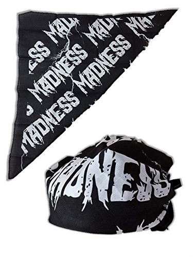 UFC Madness Colored Bandana for Macho Man Costume-Allover Black ()