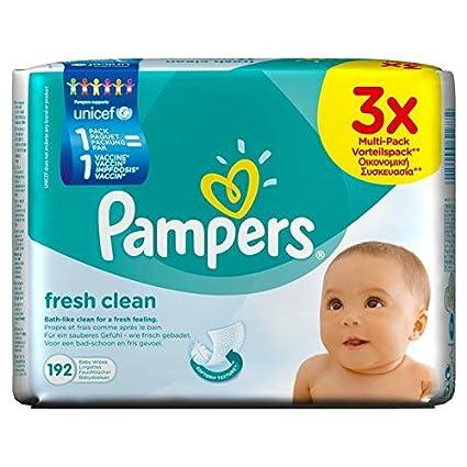 Pampers Fresh Clean 4015400622772 3x64pieza(s) toallita húmeda para bebé - toallitas húmedas para