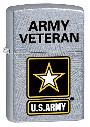 Zippo Lighter: U.S. Army, Army Veteran - Street Chrome 77664 by Zippo