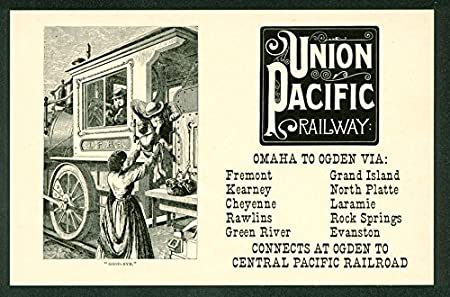 NOS Early vintage advertising playing cards Union Pacific Railroad