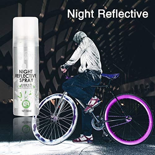 - Motop Bike Wheel Lights Non-LED,Glow in The Dark Washable Night Reflective Spray Paint and Visible from All Angles for Safety Mark Anti Accident Riding Bike Reflective Gear for Bike Clothing ect