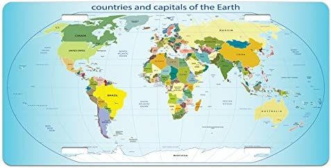 Amazon.com: Lunarable World Map License Plate, World Map ... on license plate colors, license plate france, license plate malaysia, license plate water, license plate numbers, license plate mexico, license plate russia, license plate singapore, license plate italy, license plate clock, license plate art, license plate collection, license plate search, license plate germany, license plate united states, license plate syria, license plate china, license plate games, license plate country, license plate south africa,