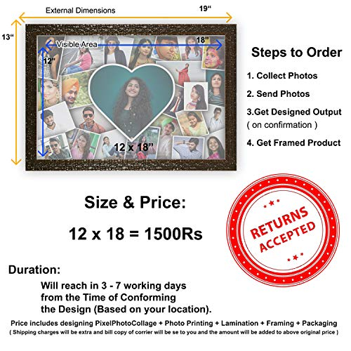 Buy Personalized Heart Photo Collage For Husband Wife Boy Friend