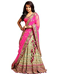 Greenvilla Designs Net Lehenga Choli (_Pink_Free Size)