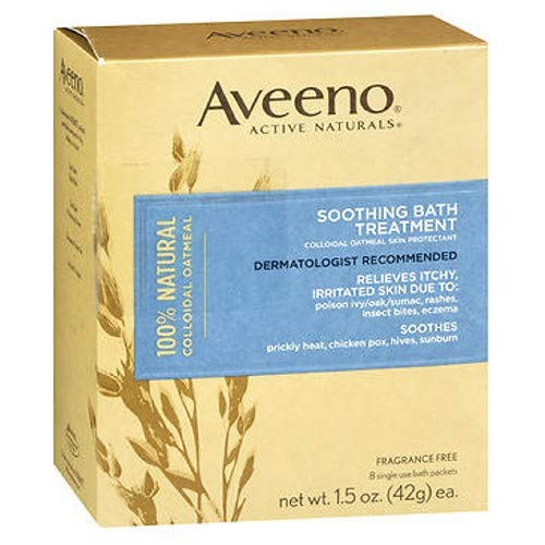Aveeno Active Naturals Soothing Bath Treatment Packets, 8 each (Pack of 2)