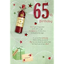 Second Nature 65Th Happy Birthday Greeting Card Lovely Verse Embellished Greetings Cards