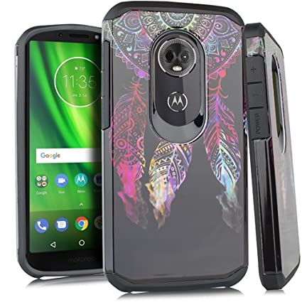newest 1220e b1d22 Fit Moto E5 Cruise/Motorola Moto E5 Play Case Slim Fit Defender Protective  Phone Cover with Screen Protector and Stylus (Dream Catcher)