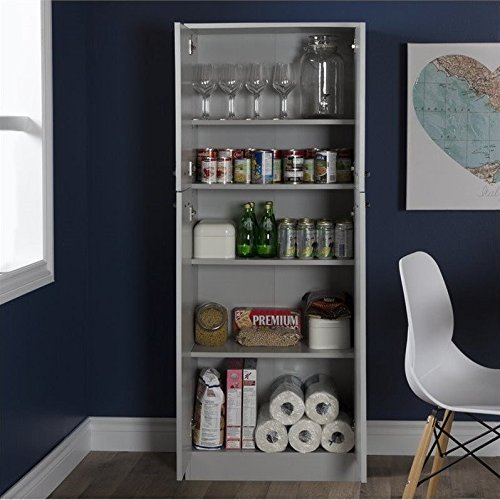 South Shore Axess 4-Shelf Pantry Storage, Soft Gray by South Shore (Image #4)