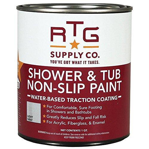 Floor Mat Light Cream (RTG Shower & Tub Non-Slip Paint (Quart, Light Gray))