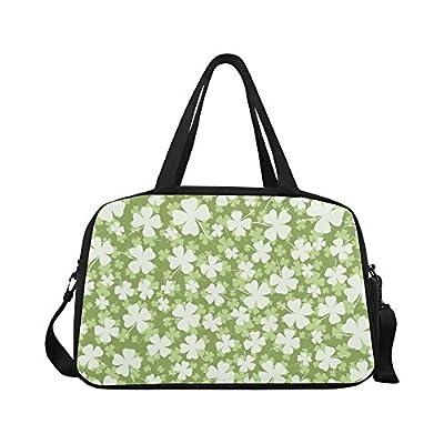 5332d1bd4e InterestPrint St. Patricks Day Clover Carry-on Duffel Travel Tote Bag  Shoulder Handbag cheap