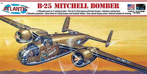 B-25 Mitchell WWII Bomber Model Kit Atlantis Toy and Hobby