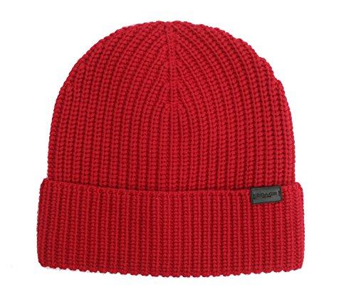COACH Rib Knit Hat - True Red