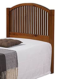 Twin Mission Headboard in Light Espresso Finish