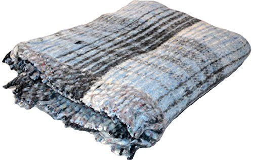 YogaAccessories Extra Heavy Recycled Mexican Blanket in Various Colors