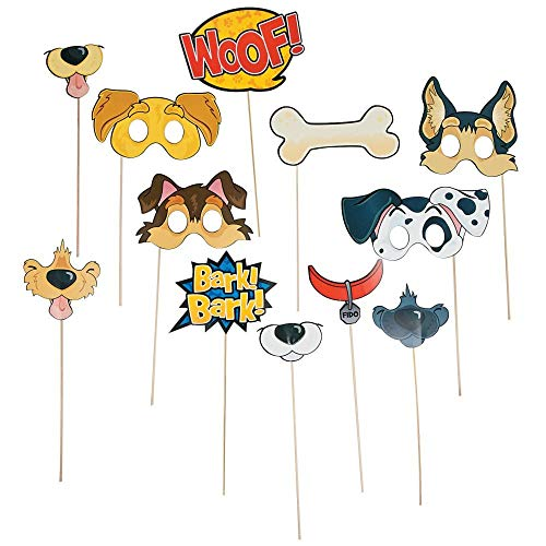 Fun Express SG_B01BVXAJLY_US Puppy Party Photo Props, 14'', Multicolor -