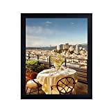 Adeco 15x18 Decroative Black Wood Wall hanging Poster Picture Frame - Made to Display 15x18 Photo or Poster