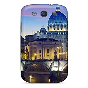 Hot Impressive Cathedral By A River First Grade Tpu Phone Case For Galaxy S3 Case Cover