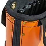 Bucket, Hard Body Oval Bucket with Sheath, Orange