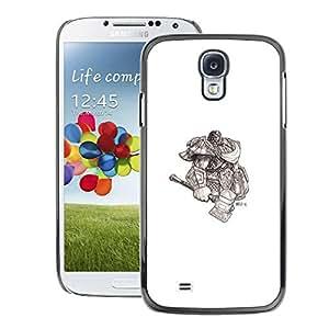Snap-on Series Teléfono Carcasa Funda Case Caso para Samsung Galaxy S4 , ( Viking God Warrior )